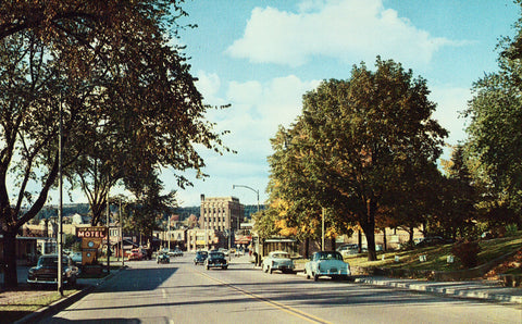Stevenson Avenue - Iron Mountain,Michigan Vintage Postcards