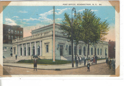 Post Office-Schenectady,New York 1924 - Cakcollectibles - 1