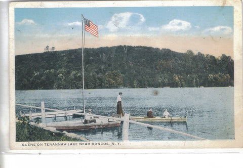 Scene on Tenannah Lake near Roscoe,New York 1920 - Cakcollectibles - 1