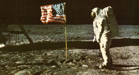 Vintage Postcard - Astronaut Aldrin on The Surface of The Moon
