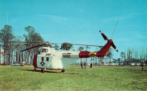 U.S. Army Helicopter - Norfolk,Virginia Vintage Postcards