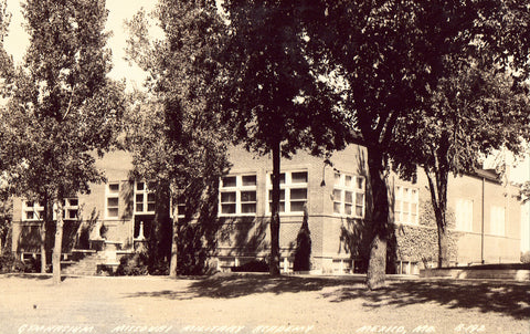 Gymnasium,Missouri Military Academy - Mexico,Missouri Photo Postcard