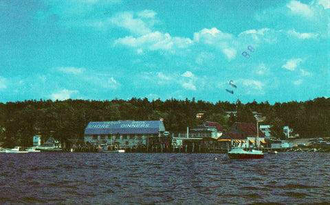"""Brown's Lobster Pound"" - Boothbay Harbor,Maine Vintage Postcards"