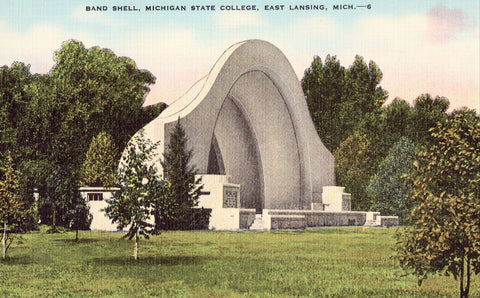 Band Shell,Michigan State College - East Lansing,Michigan