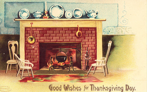 Good Wishes for Thanksgiving Day - Signed Clapsaddle Postcard