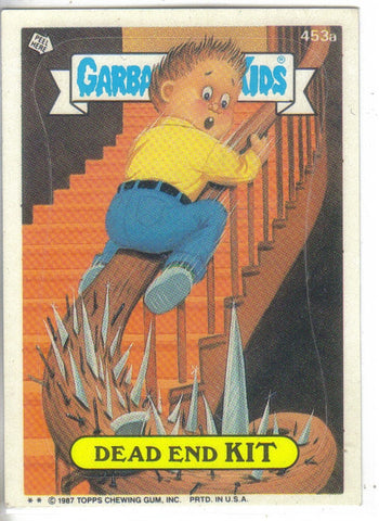 Garbage Pail Kids 1987 #453a Dead End Kit.Buy vintage Garbage Pail Kids Stickers
