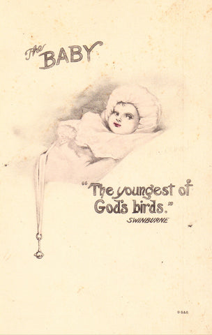 The Baby - F.K. Dunn signed postcard
