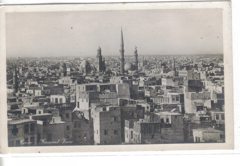 RPPC-General View-Cairo,Egypt