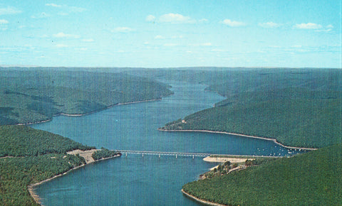 Aerial View of Kinzua Dam - Pennsylvania Vintage Postcard