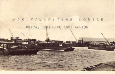QSL Card- Maritime Mobile in The Harbor of Beira,Portugese,E.A.