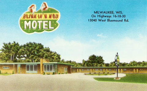Blink In 'N Nod Motel - Milwaukee,Wisconsin Vintage Postcard
