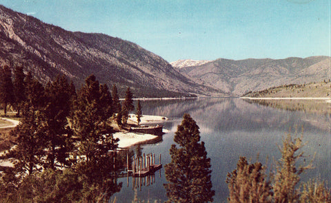 Lake Chelan in the Cascade Mountains - Washington Postcard