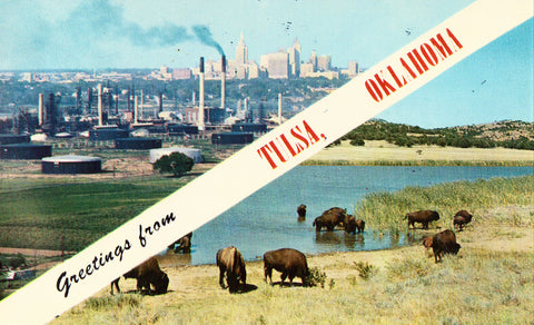 Vintage Postcard - Greetings from Tulsa,Oklahoma