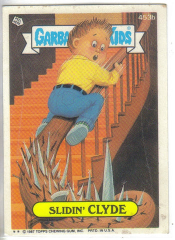 Garbage Pail Kids 1987 #453b Slidin' Clyde