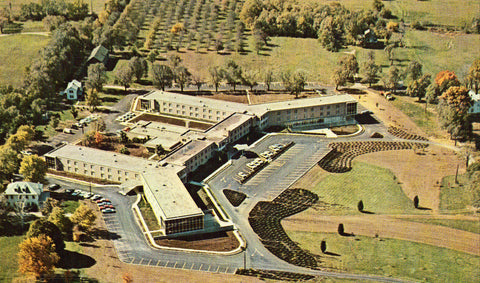 Aerial View - Bethany Lutheran Village - Dayton,Ohio front of retro postcard.Old postcards for sale
