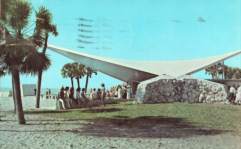 The Public Beach at Venice,Florida vintage postcards for sale