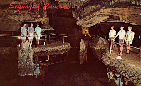 Sequoyah Caverns - Valley Head,Alabama front of vintage postcard.Postcards for sale.