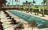 Reflection Pool,Cape Coral Gardens - Cape Coral,Florida front of vintage postcard