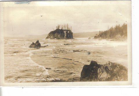 RPPC-Abbey Island and Ruby Beach-Washington 1945