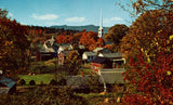 Vintage Postcard of A View of Stowe,Vermont.Front of postcard.Buy postcards here