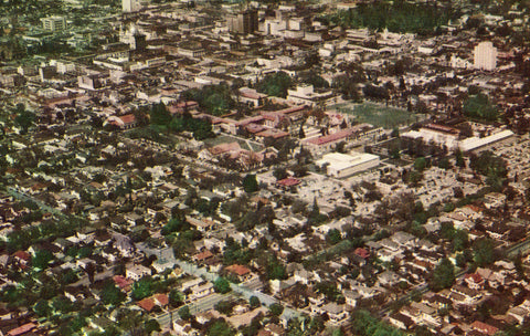 Aerial View of San Jose,California.Front of vintage postcard.Postcards for sale