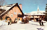 Challenger Inn Village - Sun Valley,Idaho front of vintage postcard.Buy postcards here