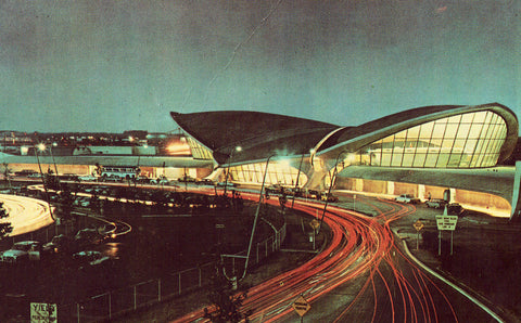 John F. Kennedy International Airport - New York City.Vintage postcard front,Buy postcards