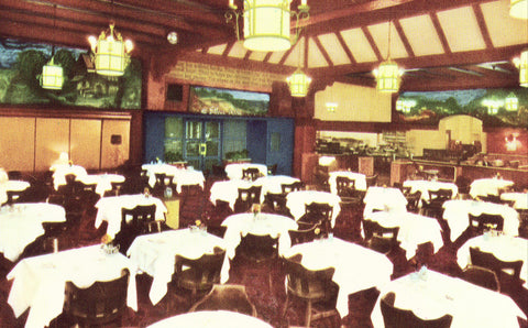 Silver Grill,Spokane Hotel - Spokane,Washington front of vintage postcard.Postcards for sale