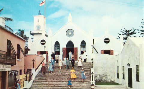 St. Peter's Church - St. George's,Bermuda front of vintage postcard