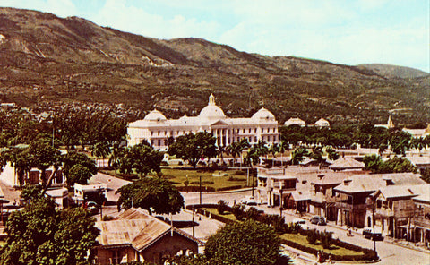 National Palace - Port-Au-Prince,Haiti front of retro postcard.Buy postcards here.