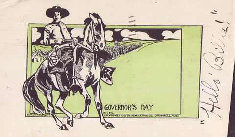 Early Post Card-Governor's Day-Man on Horse 1907 - Cakcollectibles - 1