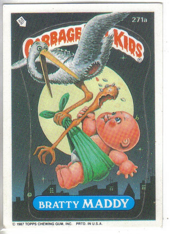 Garbage Pail Kids 1987 #271a Bratty Maddy