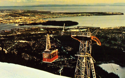 Grouse Mountain Skyride - North Vangouver,B.C.,Canada.Vintage postcard front