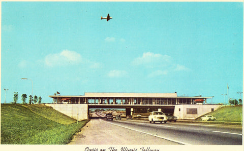Oasis on The Illinois Tollway Vintage Postcard Front