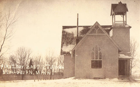 RPPC - First Day Babtist Church - New Auburn,Minnesota