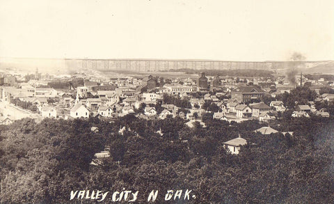 RPPC - Panoramic View of Valley City,North Dakota 1911