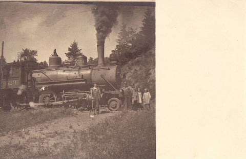 Steam Engine #529 Real Photo Postcard