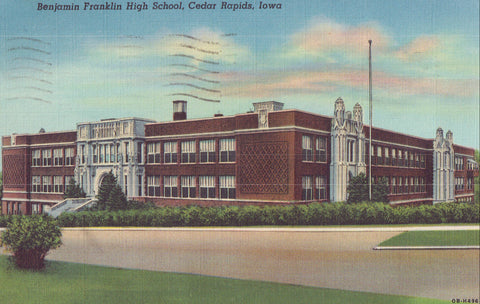 Benjamin Franklin High School-Cedar Rapids,Iowa 1952 - Cakcollectibles - 1