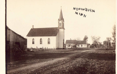 Real Photo Postcard - Church in New Auburn,Minnesota