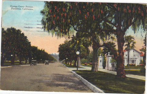 Orange Grove Avenue-Pasadena,California 1927