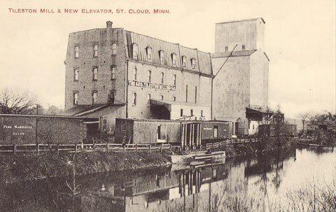 Tileston Mill & New Elevator - St. Cloud,Minnesota Postcard