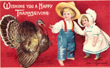 Wishing You a Happy Thanksgiving - Clapsaddle Postcard