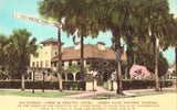 Qui-Si-Sana Hotel - Green Cove Springs,Florida Hand Colored Postcard