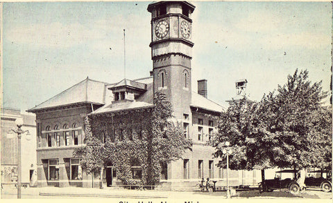 City Hall - Alma,Michigan - Old Michigan Postcards