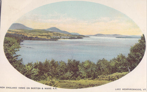 New England Views on Boston & Maine R.R.-Lake Memphremagog,Vermont UDB - Cakcollectibles - 1