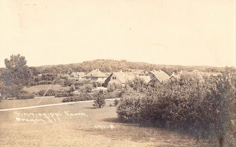 Sinnissippi Farm - Oregon,Illinois 1912.Real Photo Postcard Front