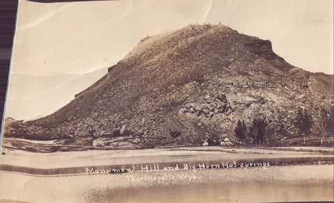 RPPC-Monument Hill and Big Horn Hot Springs-Thermopolis,Wyoming 1918 - Cakcollectibles - 1