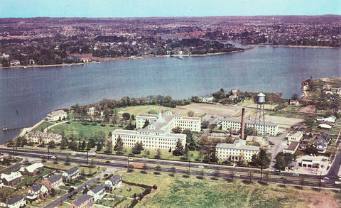 Aerial View of U.S. Public Health Hospital - Norfolk,Virginia.Front of vintage postcard