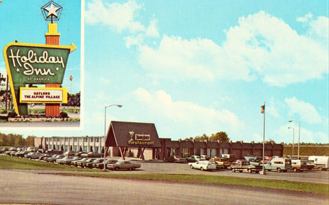 Holiday Inn of Gaylord - Gaylord,Michigan.Vintage postcard front