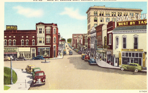 Main Street,Looking East - Johnson City,Tennessee